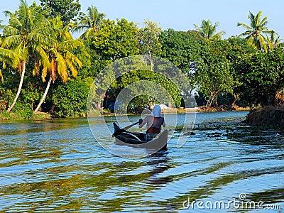 Kerala Backwaters, India Editorial Photography