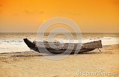 Kerala boat sunset