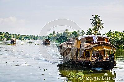 Kerala cruise boats Editorial Stock Photo