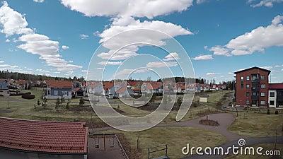 Kerava, Finland in spring timelapse. Video stock video