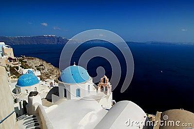 Kerk in Santorini, Griekenland.