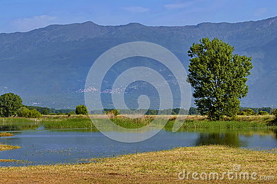 Kerkini lake at nord Greece