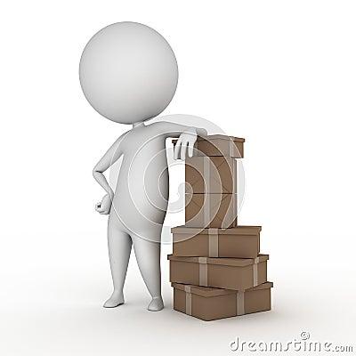 Kerl mit Paketen