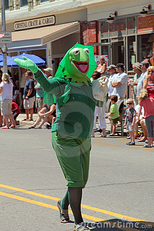 Kermit the Frog in Parade Editorial Stock Image