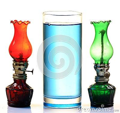 Kerosene oil and lamps