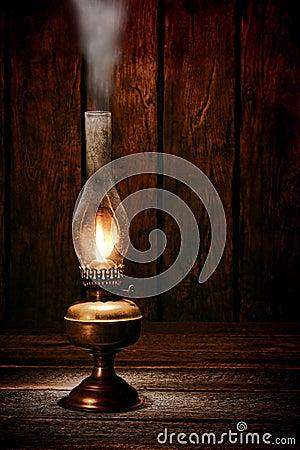 Free Kerosene Oil Lantern Lamp Smoke In Old Ranch Barn Stock Photo - 38639880
