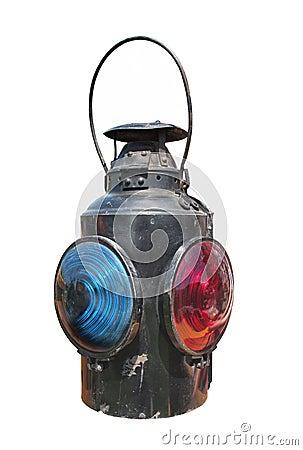 Free Kerosene Railroad Signal Lantern Isolated Royalty Free Stock Image - 24934976