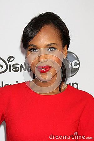 Kerry Washington arrives at the ABC / Disney International Upfronts Editorial Photography