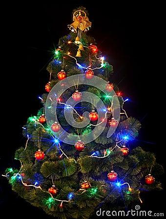 Kerstboom met geleid licht royalty vrije stock foto 39 s beeld 11635648 - Tape geleid keuken ...