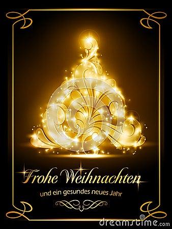 Kerstkaart met het Duits