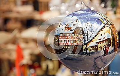 Kerstmis in duitsland in een bal stock foto afbeelding 28306800 - Geschilderde bundel ...