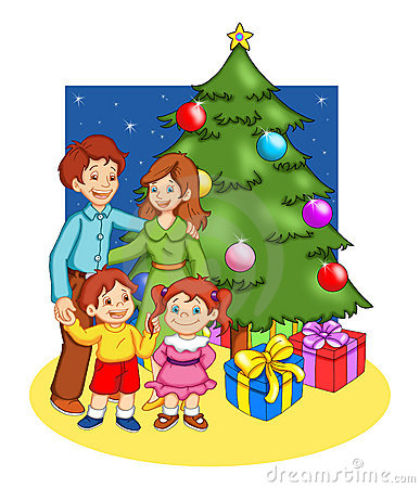 Kerstmis in familie