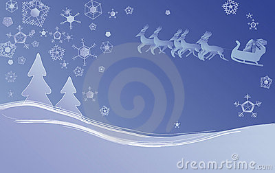 Kerstmisscène van de winter