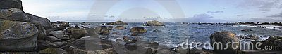 Kerveren, oceans  panorama, France, Hdr