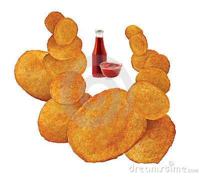 Ketchup flavored chips