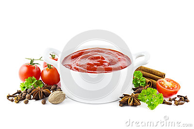 Ketchup with spices