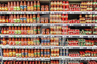 Ketchup Tomato Sauce Bottles Editorial Stock Photo