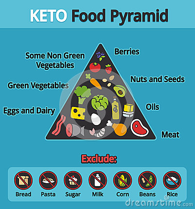Keto Food Pyramid Stock Vector - Image: 57038839