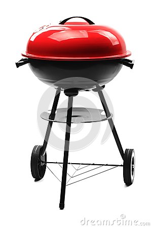 Free Kettle Barbecue Grill With Cover Stock Photo - 24816230