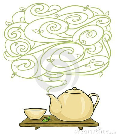 Kettle and cup background