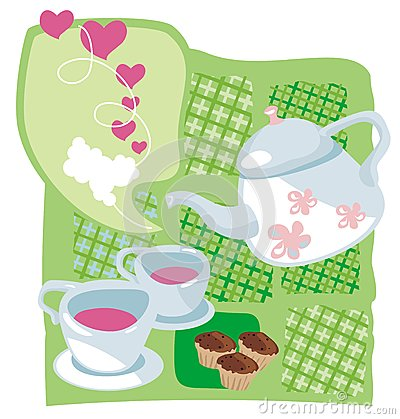 Kettle and muffins