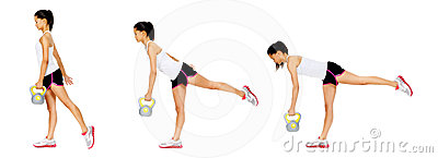Kettlebell Dumbell Exercise Royalty Free Stock Photography - Image: 24323537