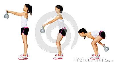 Kettlebell dumbell exercise