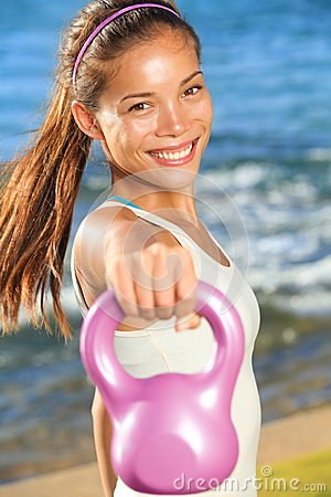 Kettlebell training woman