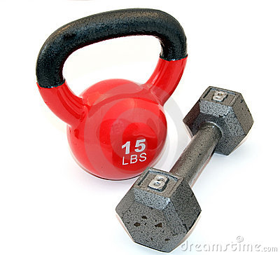 Kettlebell y pesa de gimnasia