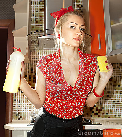 Keuken-meisje