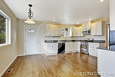 Keuken met witte kabinetten en granietbovenkanten stock foto afbeelding 43213590 - Keuken met teller ...