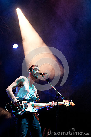 Kevin Baird, bassist, vocals and synth of Two Door Cinema Club Editorial Stock Image