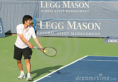 Kevin Kim: Pro Tennis Player Serve Editorial Photo