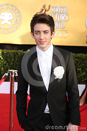 Kevin McHale at the 17th Annual Screen Actors Guild Awards, Shrine Auditorium, Los Angeles, CA. 01-30-11 Editorial Photo