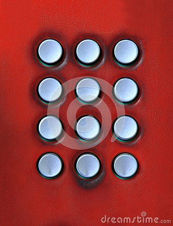 Key board of number press button on public telepho
