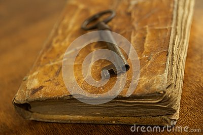 Key on a book