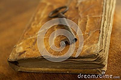 Key on a book