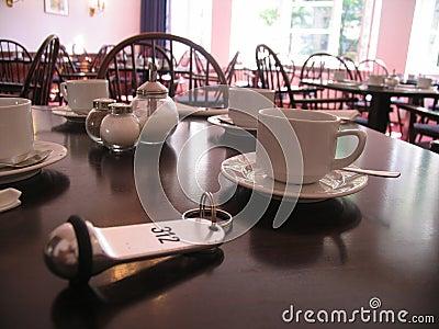 Key on breakfast table