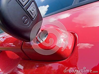 Key in the car door