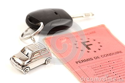 Key car with little key ring in car s shape