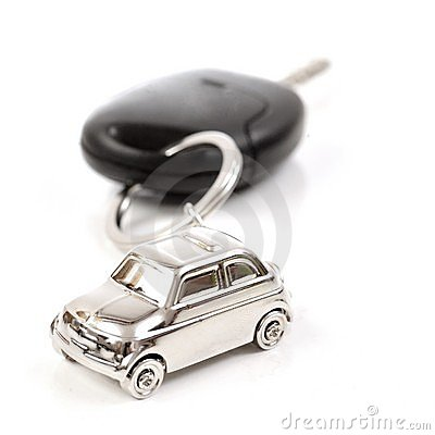 Free Key Car With Little Key Ring In Car S Shape Royalty Free Stock Photography - 18224507