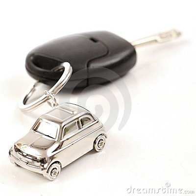Free Key Car With Little Key Ring In Car S Shape Stock Images - 18224514
