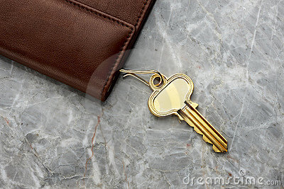 Key case with key