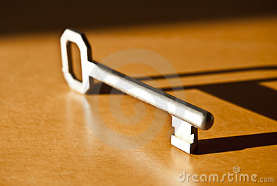 Key with clear shadow