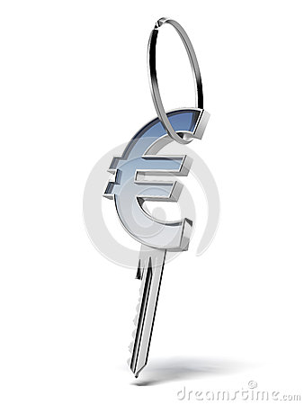 Key with euro sign