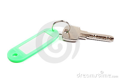 Key and green trinket.