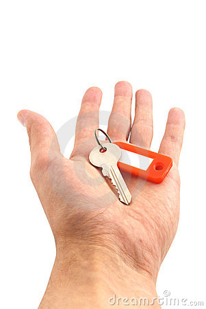 Key in hand.