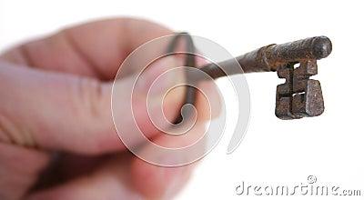 key in hand unlock success