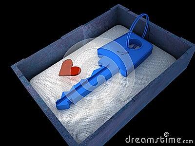 Key from heart