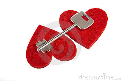 Key on a hearts